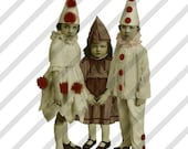 Digital Collage Sheet Clowns (Sheet no. C1) Instant Download