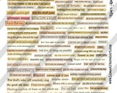 Digital Phrase Collage Sheet 8 (Sheet no. FS118) Instant Download