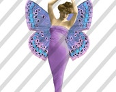 Digital Collage Sheet Ladies with Wings  PNG file available (Sheet no.L4) Instant Download