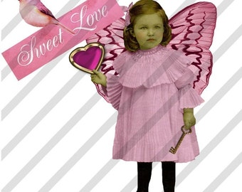 Digital Collage Sheet Valentine Children 2 (Sheet no. H5) Instant Download