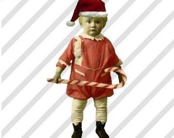 Digital Collage Sheet, Christmas Fairies, Christmas Children(Sheet no. H1) Instant Download