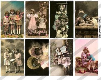 Digital Collage Sheet Together (Sheet no. PS15) Vintage Postcard Images-Instant Download