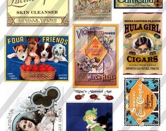 Vintage Ephemera Images-Digital Collage Sheet  (Sheet no. E3) Instant Download
