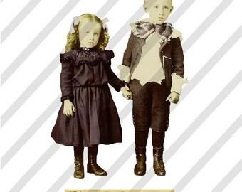 Digital Collage Sheet Children ATC 8 (Sheet no. A8) Instant Download