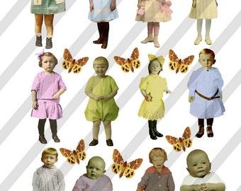Digital Collage Sheet Children (Sheet no. F20) Instant Download