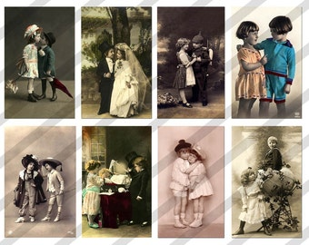 Digital Collage Sheet Couples (Sheet no. PS8) Instant Download