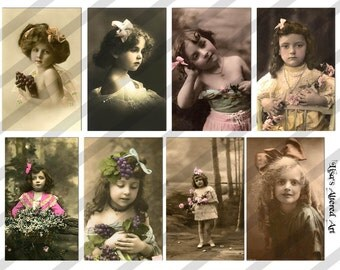 Digital Collage Sheet Bows (Sheet no.  PS16) Vintage Images-Instant Download