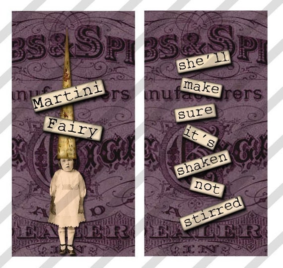 Digital Collage Sheet Domino Treasure Fairies 2 SHEETS of 1X2 Images (Sheet no.FS110A&B) Instant Download