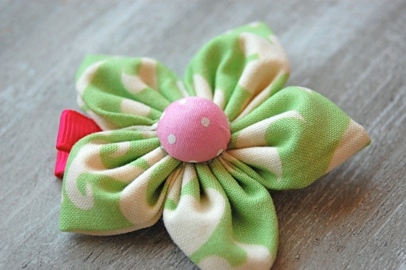 fabric flower clip