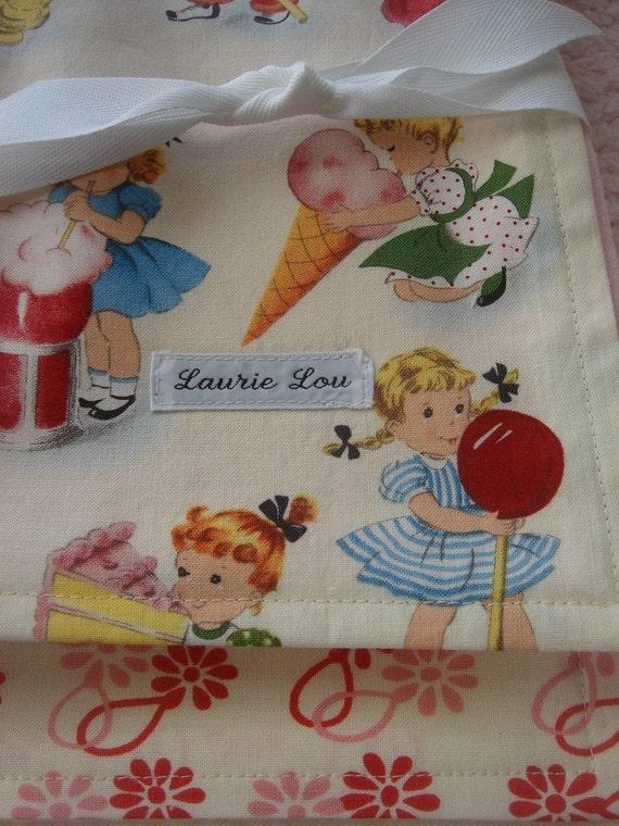 SALE Retro Sweet Treats Burp Cloth Set