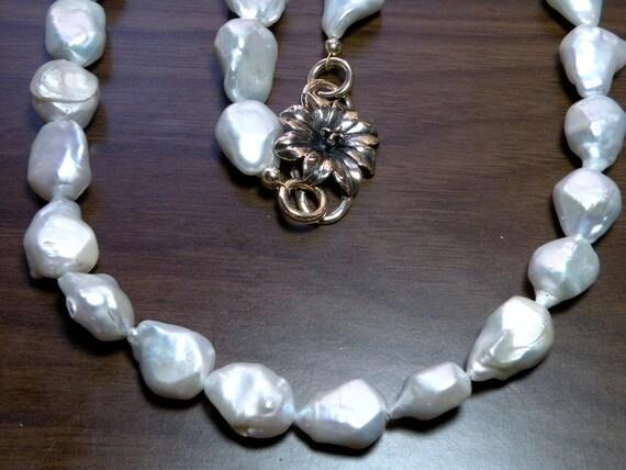 CMYERSMED Deposit on Custom Freshwater Pearl Nugget Necklace