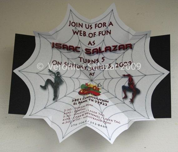 unique pop up spiderman invitations boy by invitationcreation
