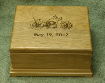 Personalized Jewelry Box,Engraved Jewelry Box,Alder Wood Box,Laser Engraved