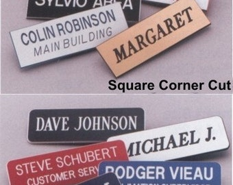 ID Tags,Name Tags,Personalized ID Tag,Laser Engraved Plastic Nametags NT-1