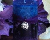 Twilight Sunset Candle 2x3 . Summer Evening Illumination, Love. With Exotic Dark Sandalwood, Vetiver, Bergamot, Lime, Black Lily, Camillia