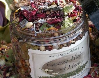 Ostara Spring Casting Herbs 8oz . Spring Equinox . A Magical Mix of Flowers, Herbs & Crystal Gemstones