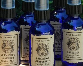 Bergamot Grapefruit . Sacred Essentials Smudge Mist Spray 1oz . Purification of Sacred Space