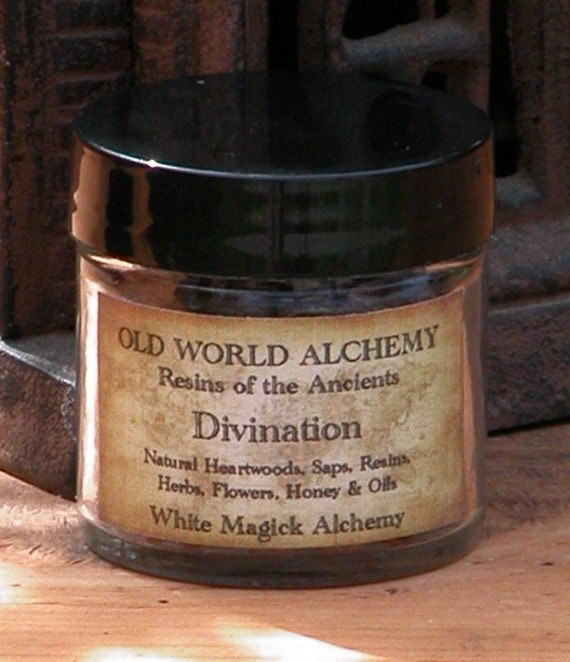 Divination . Resins of the Ancients. Old World Alchemy . For Psychic Workings, Intuition and Communication
