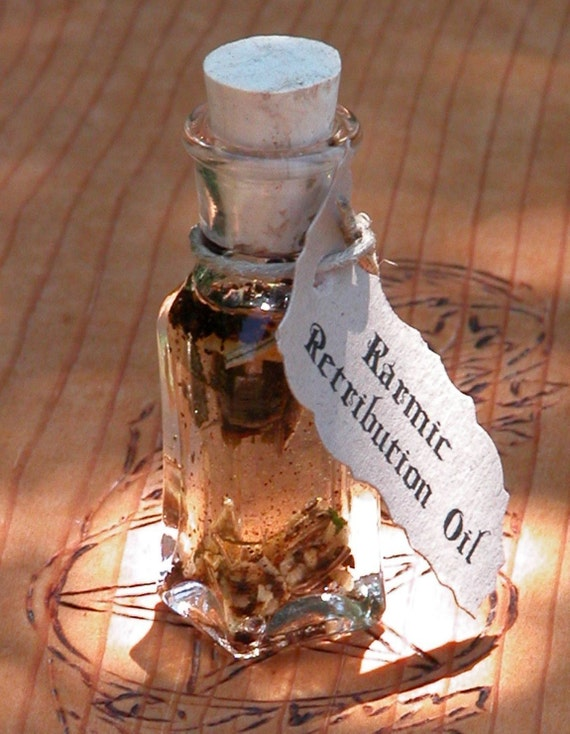 Karmic Retribution Ritual Oil . Banish Negative Influence, Psychic Vampires, Ex-Lovers, Initiate Natural Energies of Universal Karma