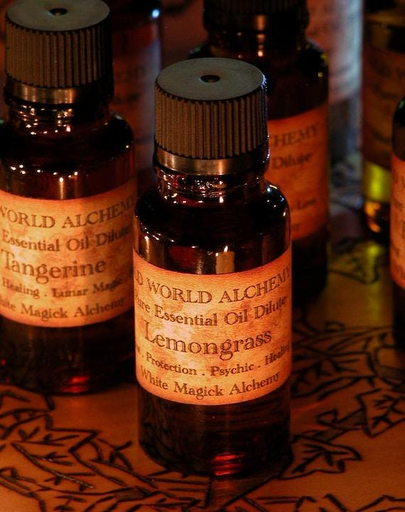 Lemongrass Essential Oil . White Magick Alchemy Pure Essential Dilute