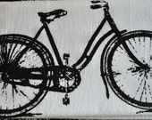 RESERVED- smileyang1 Flour Sack Vintage Bike Dish Towel
