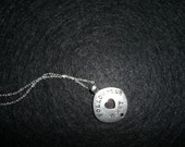 FREE SHIPPING- SALE Follow Your Heart, Love Life Necklace, Sterling