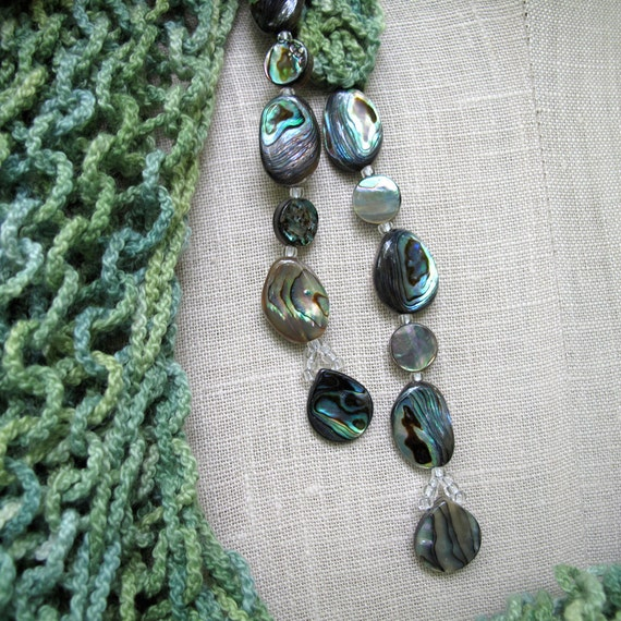 Hand-dyed Cotton Mindfulness Mantle with Abalone