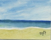seashore ACEO original