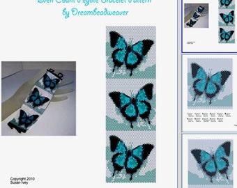Waltzing Butterfly Bracelet Pattern