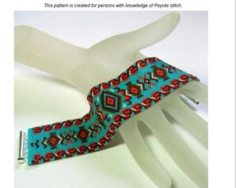 Mexicali Peyote Bracelet Pattern