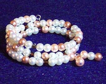 Spiral Pearly Bracelet