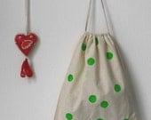 Fabric bag with confetti