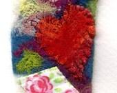 Textile love card