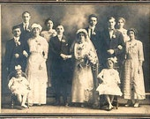 Victorian Photo w Large Wedding Party Group, 1890s, Victorian Clothing