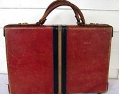 Vintage 1960's Leather Briefcase in 3 Colors, Time Wear, Clean, Suitcase, Luggage, Leather