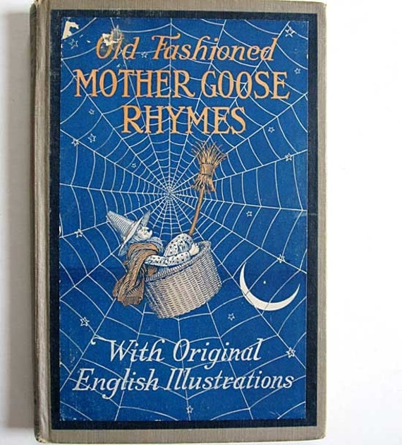 Old Fashioned Book Cover : Vintage edition old fashioned mother goose rhymes