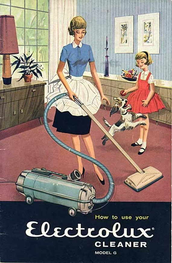 colorful vintage 1960 electrolux vacuum cleaner advertising