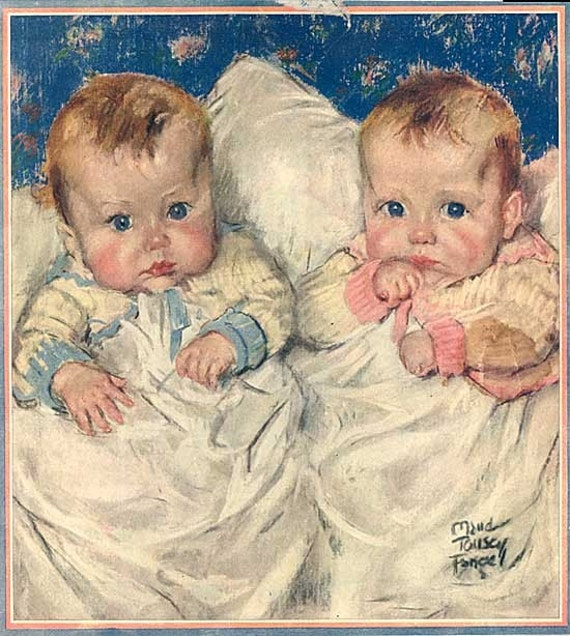 Vintage 1921 Very Cute Babies Illustration Print By Maud