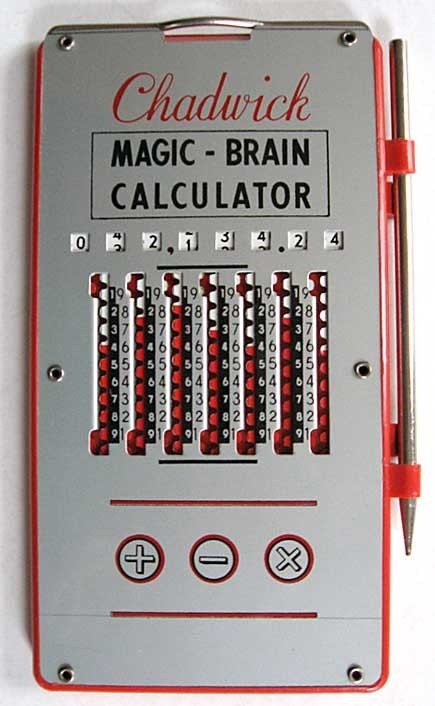 1950 Vintage Chadwick Magic Brain Calculator Gadget Mint In