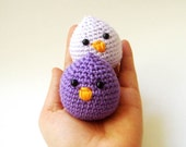 lavender and purple baby chicks (set of 2)