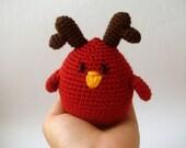 Fall Reindeer Bird Toy Ornament hostess Woodland