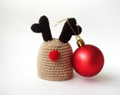 Santa's Rudolph Deer christmas hostess  Egg Hat - Egg Warmer - Egg Cozy