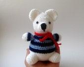 Amigurumi Sailor Polar Bear Plush toy