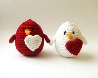 Love Birds (setof 2) gemini wedding cake topper ornament