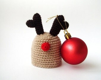 Christmas, Reindeer Egg hat, egg warmer, hostess gift