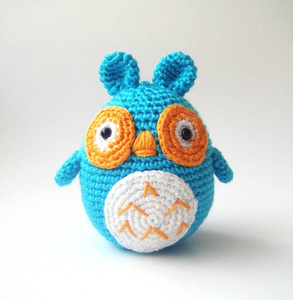 Crocheted stuffed owl