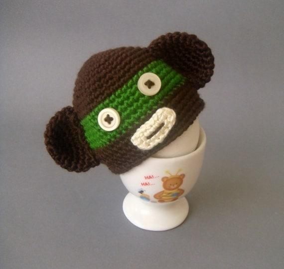 Monkey Egg Hat - Egg warmer - Egg Cozy
