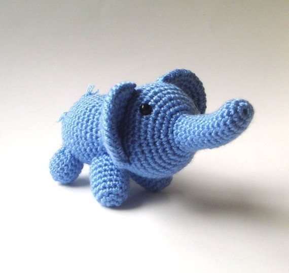 Little blue crocheted elephant
