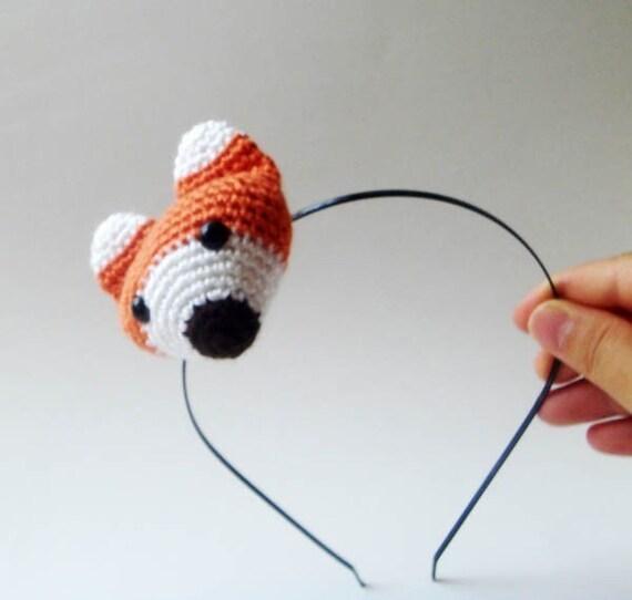 fox girl headband amigurumi crocheted
