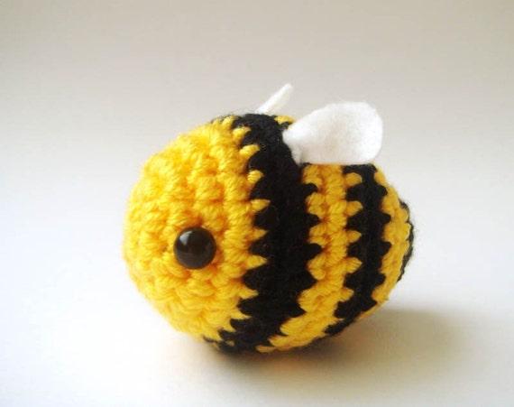 Bee toy Crochet Bumble bee Buzz